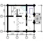 Брусчатая баня 5,4х4 метра